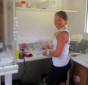 labwork at CRIOBE, Moorea