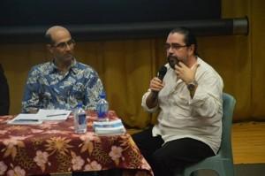 David Lecchini et Ciro Ricco lors des tables rondes de la conférence