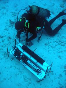 plongeur + sonde
